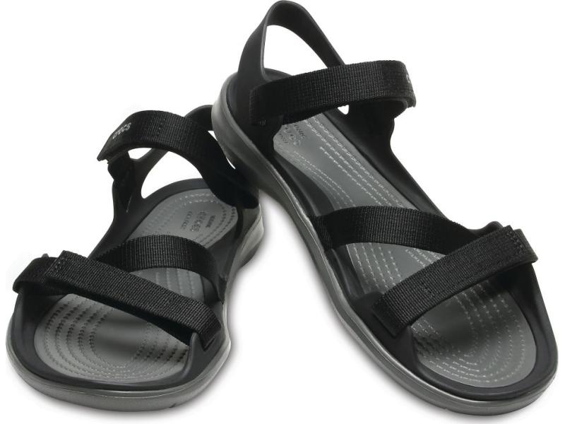 Crocs™ Women's Swiftwater Webbing Sandal Black