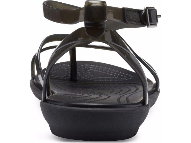 Crocs™ Isabella Gladiator Sandal Black/Black