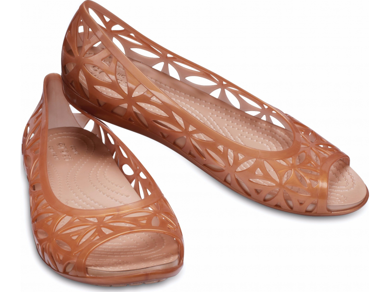 Crocs™ Isabella Jelly II Flat Dark Gold/Gold