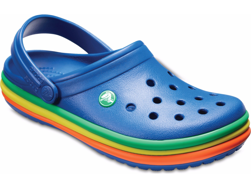Crocs™ Crocband Rainbow Band Clog Blue Jean