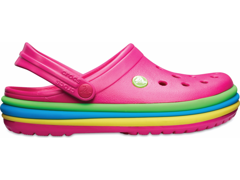 Crocs™ Crocband Rainbow Band Clog Candy Pink