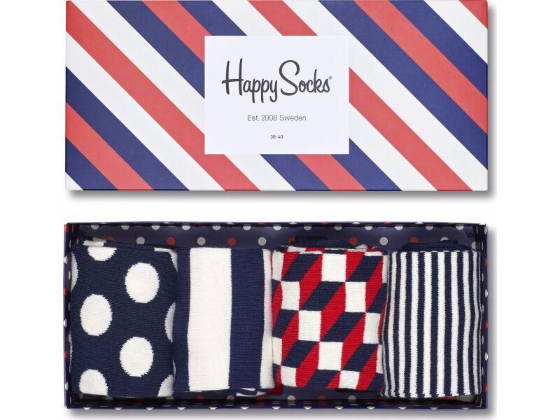 HAPPY SOCKS Big Dot Box Navy/Red/White