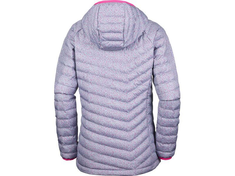 Columbia Powder Lite Hooded Jacket Grey Ash Tweed Print