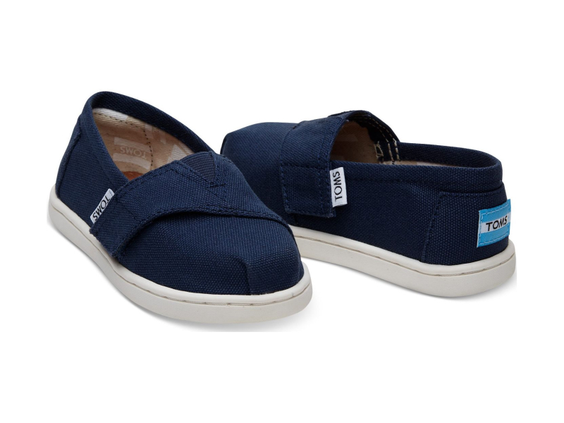 TOMS Canvas Kid's Core Alpargata Navy