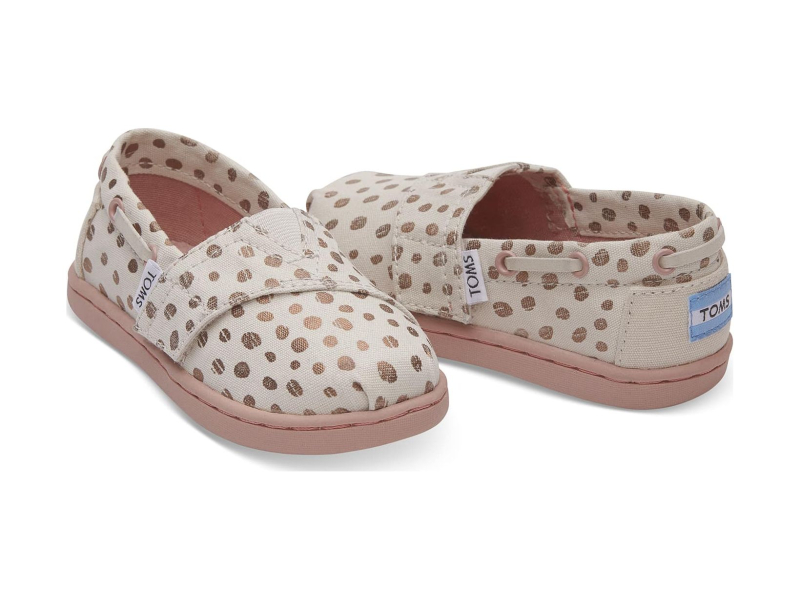 TOMS Dots Kid's Bimini Rose/Gold