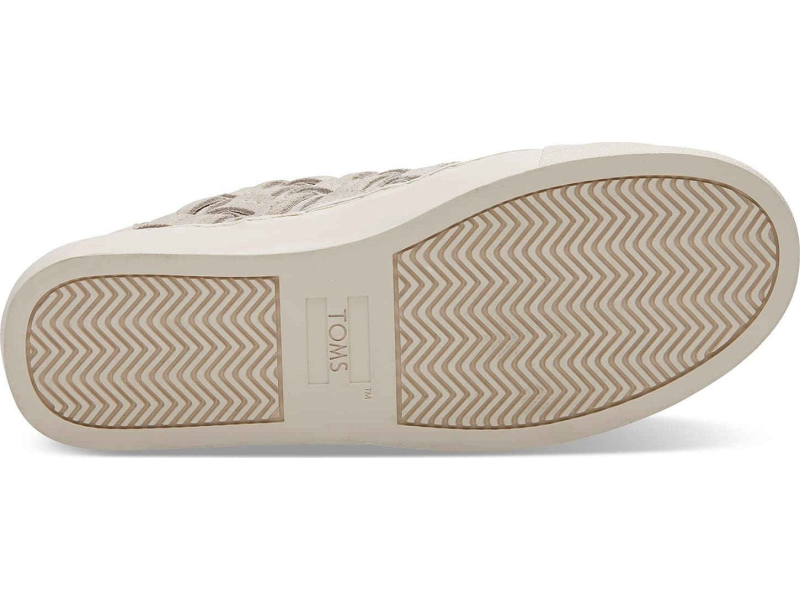 TOMS Suede Basketweave Women's Lenox Sneaker Birch