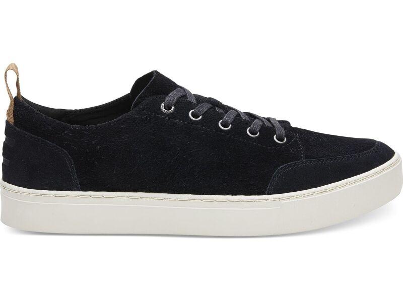 TOMS Shaggy Suede Men's Landen Sneaker Black