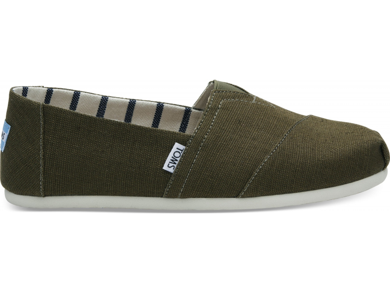 TOMS Heritage Canvas Men's Alpargata Military Olive