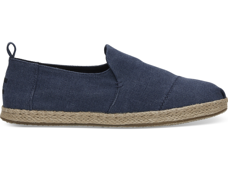 TOMS Washed Men's Deconstructed Alpargata Navy