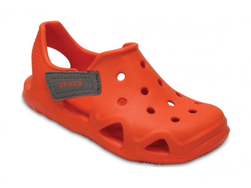 Crocs™ Kids' Swiftwater Wave Tangerine