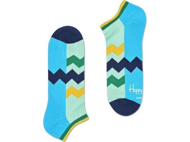 Happy Socks Athletic Zig Stripe Low Light Blue/Dark Blue