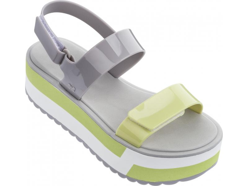 ZAXY Slash Plat Sandal Grey/Yellow