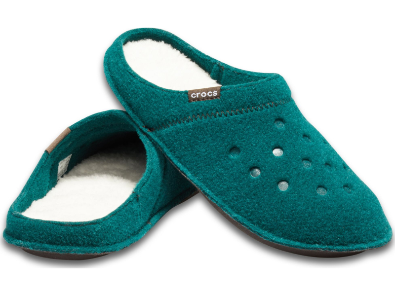 Crocs™ Classic Slipper Evergreen/Stucco