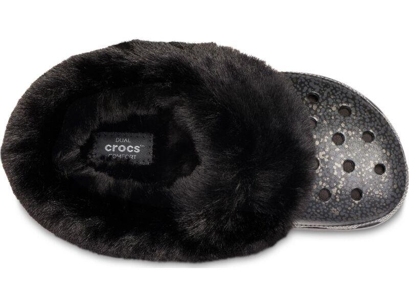 Crocs™ Classic Mammoth Luxe Radiant Clog Black