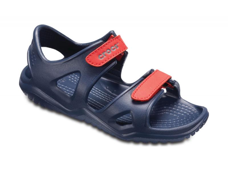 Crocs™ Kids' Swifwater River Sandal Navy/Flame