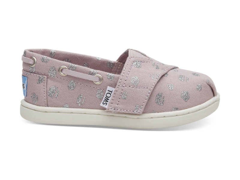 TOMS Metallic Torn Dots Kid's Bimini Burnished Lilac