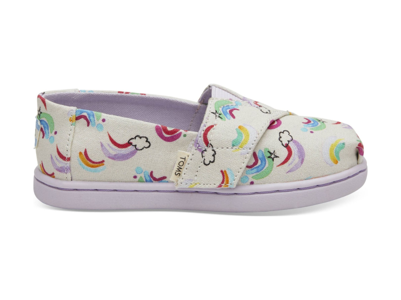TOMS Jumping Rainbows Kid's Alpargata White