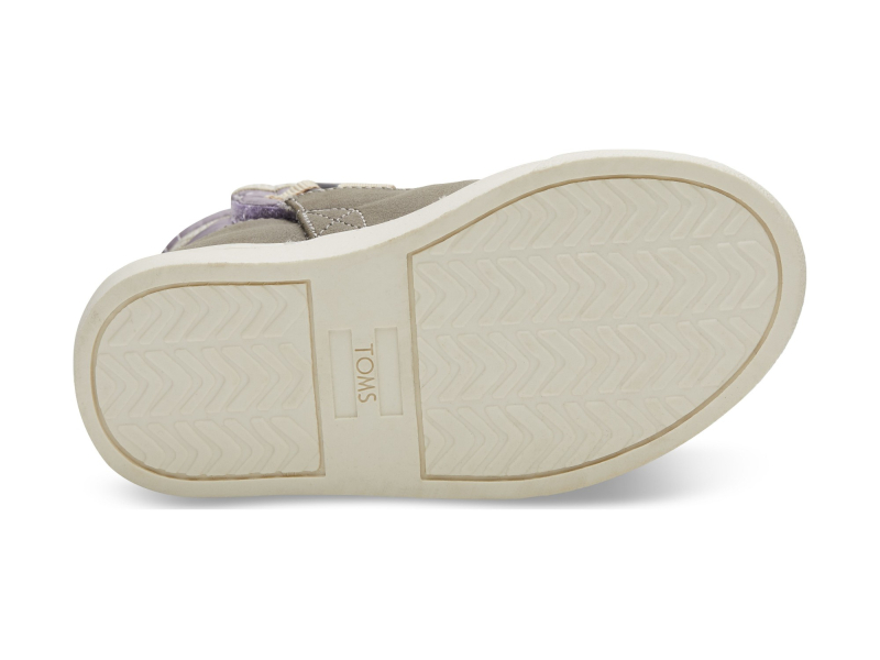 TOMS Quilted Synthetic Leather Kid's Alpine Boot Lavender