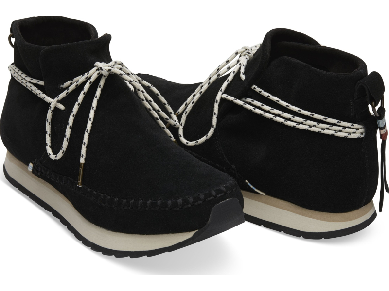 TOMS Suede Water Resistant Women's Rio Sneaker Black