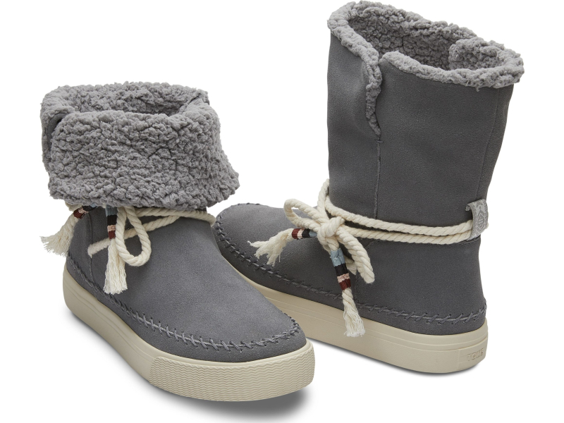 TOMS Suede Faux Shearling Women's Vista Boot Shade
