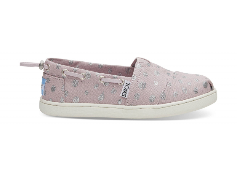 TOMS Metallic Torn Dots Junior's Bimini Burnished Lilac