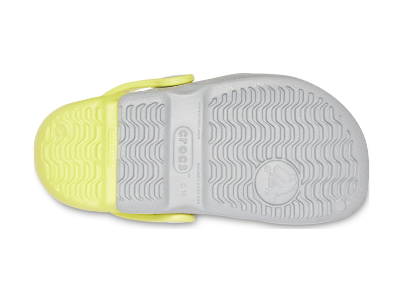 Crocs™ Kids' Electro Light Grey/Citrus