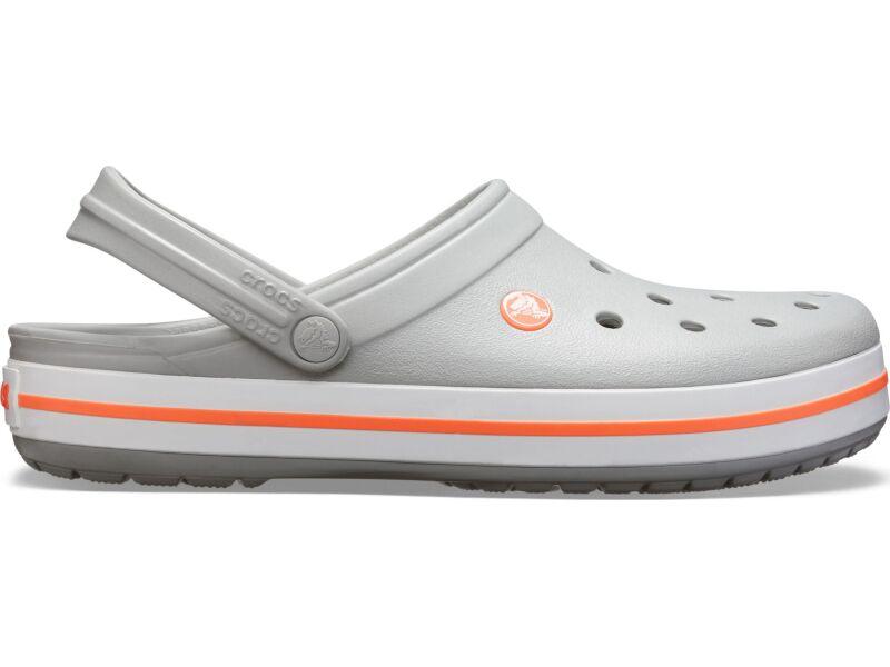 Crocs™ Crocband™ Light Grey/Bright Coral