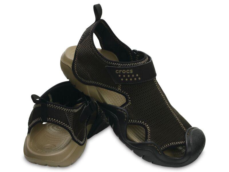 Crocs™ Swiftwater Outlet Sandals Espresso/Khaki