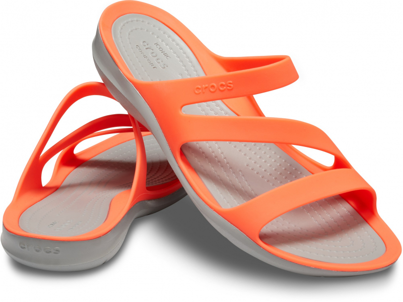Crocs™ Women's Swiftwater Sandal Bright Coral/Light Grey