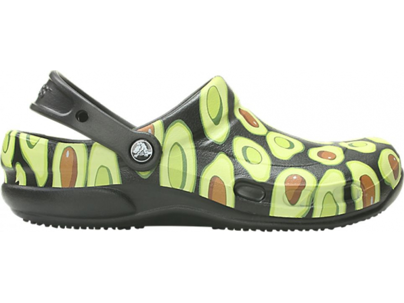 Crocs™ Bistro Graphic Clog Black/Volt Green
