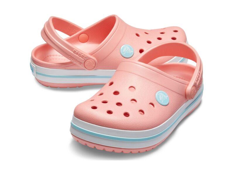 Crocs™ Kids' Crocband Clog Melon/Ice Blue