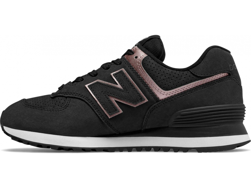 New Balance WL574 Nubuck Black NBK