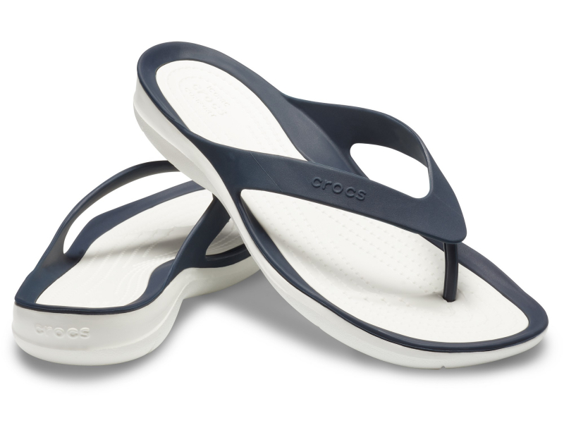 Crocs™ Women's Swiftwater Flip Navy/White