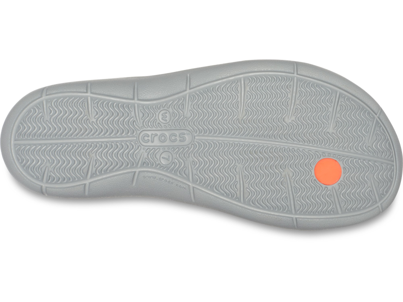 Crocs™ Women's Swiftwater Flip Bright Coral/Light Grey