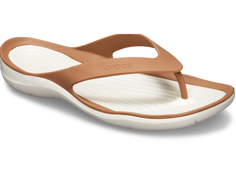 Crocs™ Women's Swiftwater Flip Bronze/Oyster