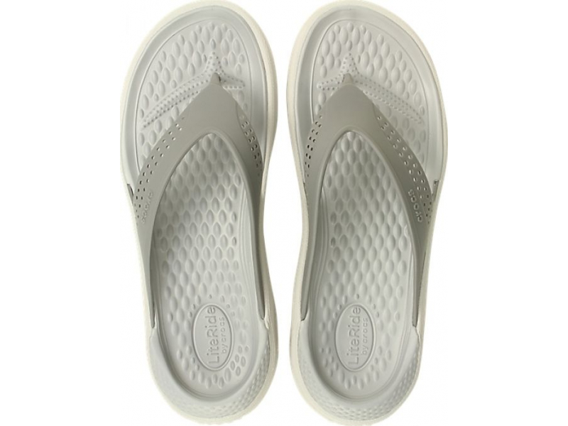 Crocs™ LiteRide Flip Smoke/Pearl White