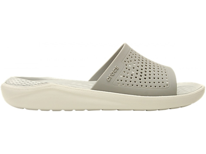 Crocs™ LiteRide Slide Smoke/Pearl White