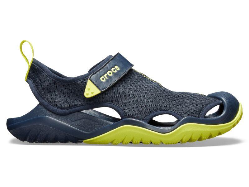 Crocs™ Swiftwater Mesh Deck Sandal Men's Navy/Citrus