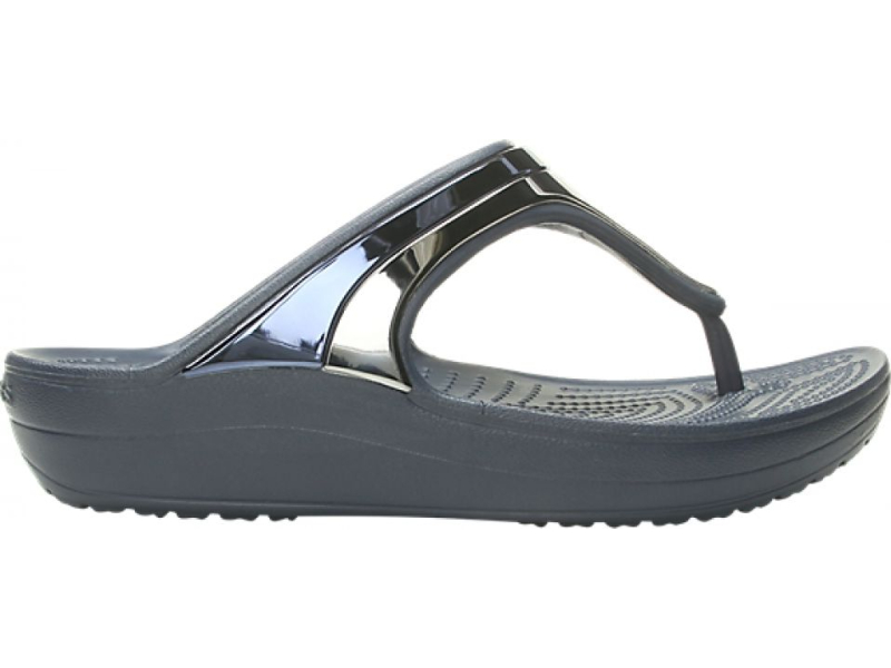 Crocs™ Sloane Metal Block Wedge Flip Multi Navy/Navy