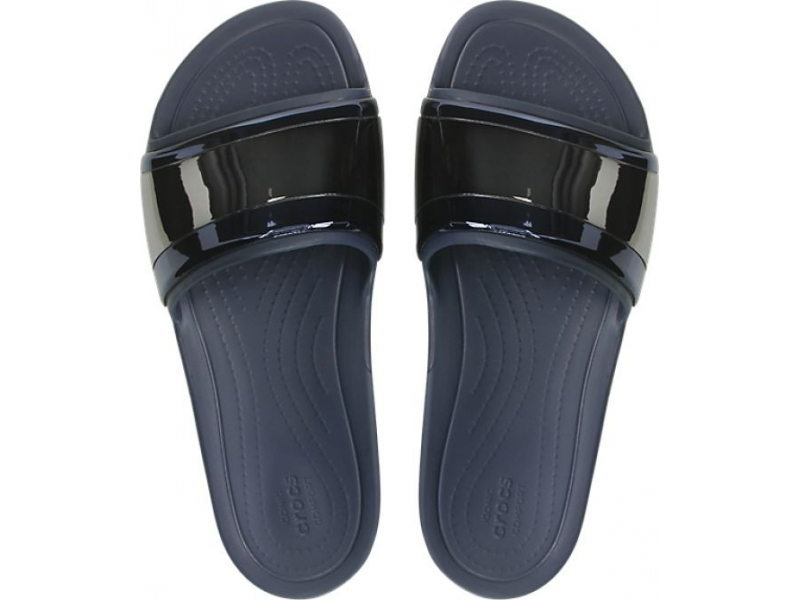 Crocs™ Sloane Metal Block Slide Women's Multi Navy/Navy