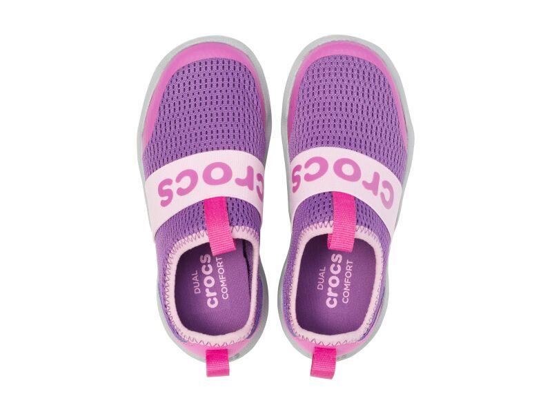 Crocs™ Swiftwater Easy-On Logo Shoe Kid's Amethyst/Vibrant Violet