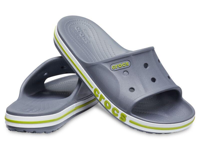 Crocs™ Bayaband Slide Charcoal/Volt Green