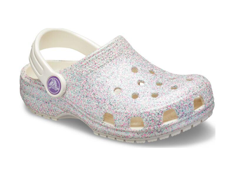 Crocs™ Kids' Classic Glitter Clog Oyster
