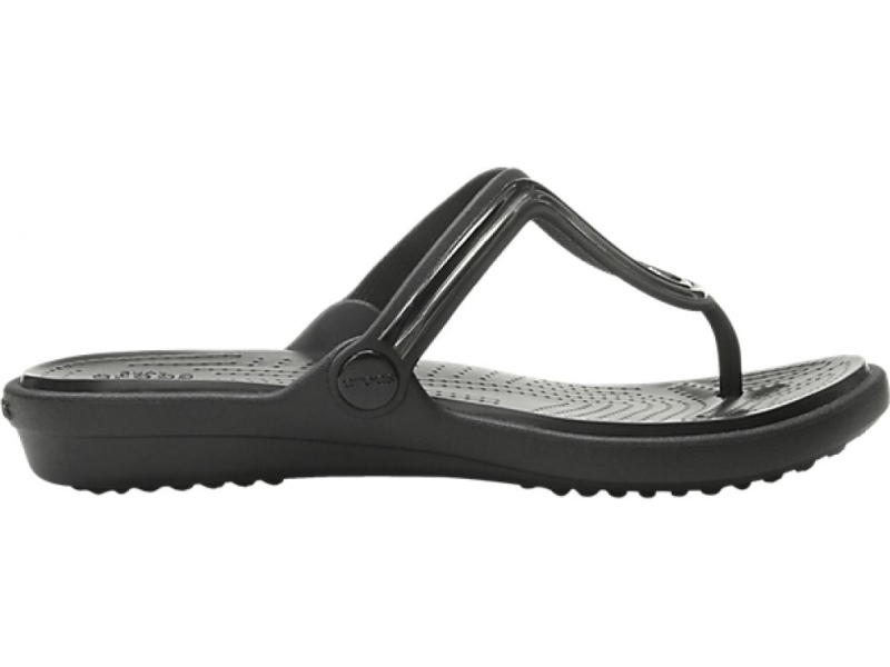 Crocs™ Sanrah Metal Block Flat Flip Women's Multi Black/Black