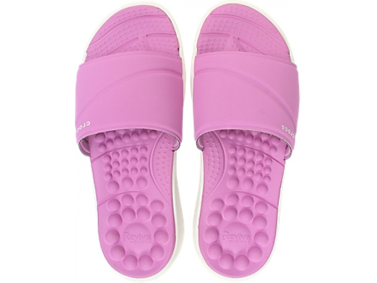 Crocs™ Reviva Slide Women's Violet/White