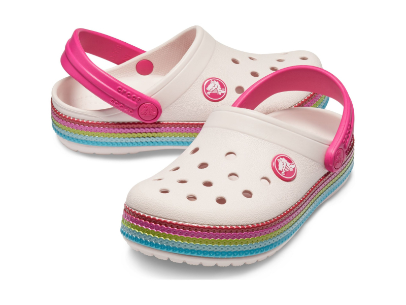 Crocs™ Crocband Sequin Band Clog Kid's Barely Pink