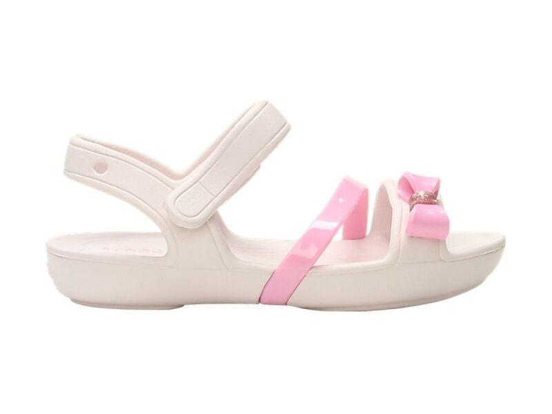 Crocs™ Lina Charm Sandal Kid's Barely Pink