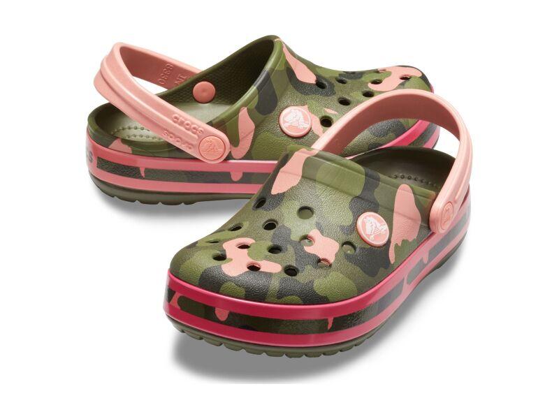Crocs™ Crocband Multi Graphic Clog Kid's Melon