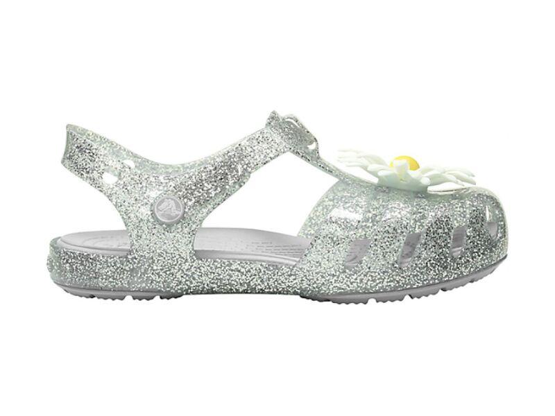 946a4bdc03 ... Crocs™ Isabella Charm Sandal Kid's Silver ...