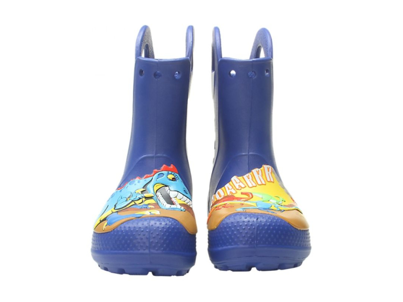 Crocs™ Funlab Dino Rain Boot Kid's Blue Jean
